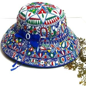 Authentic Peruvian Multi Color Sun Hat Festival